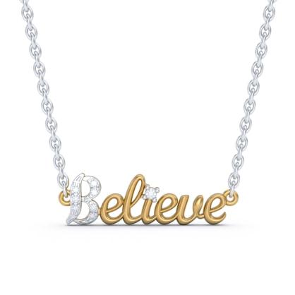 The Believe Script Necklace