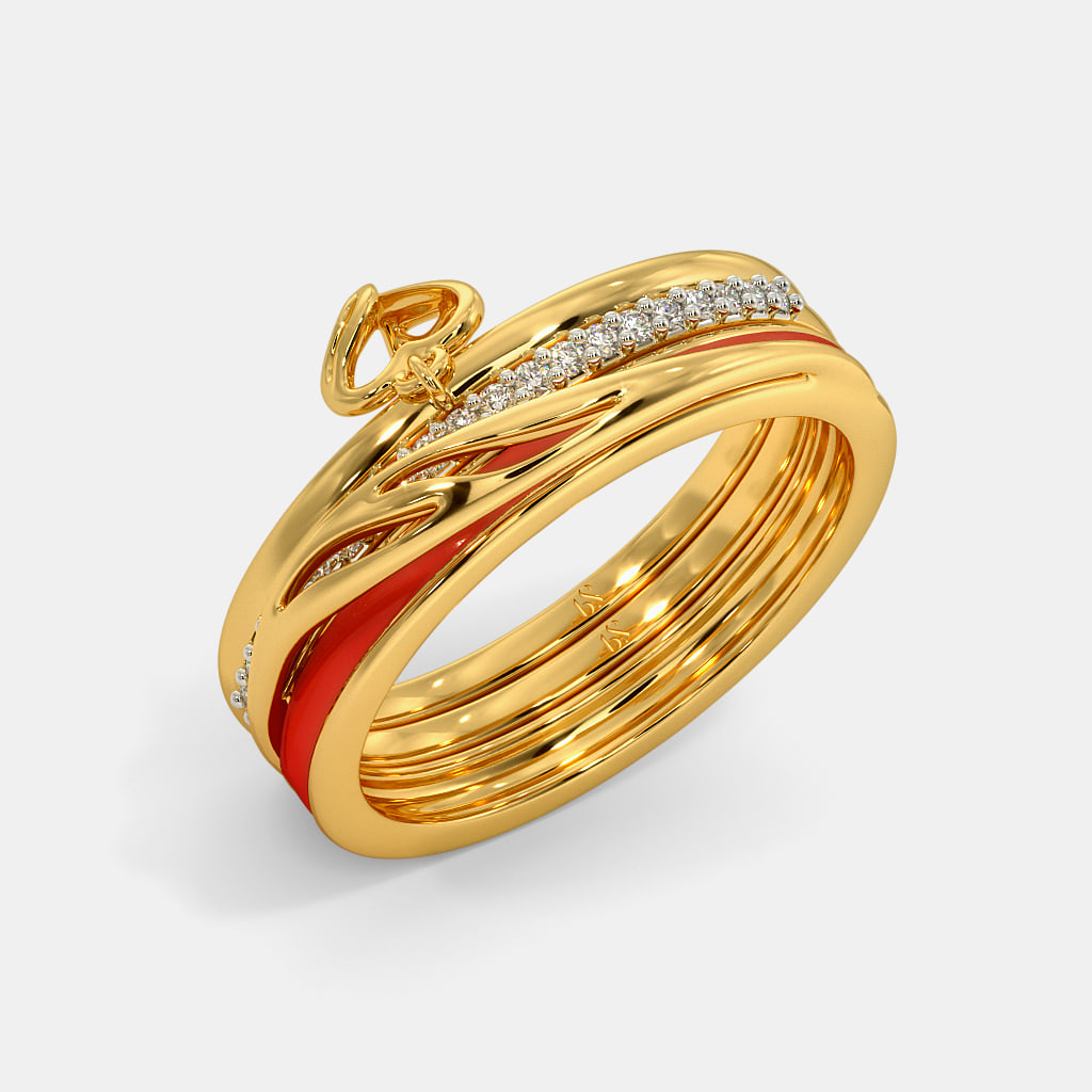 The Ettie Fire Stackable Ring