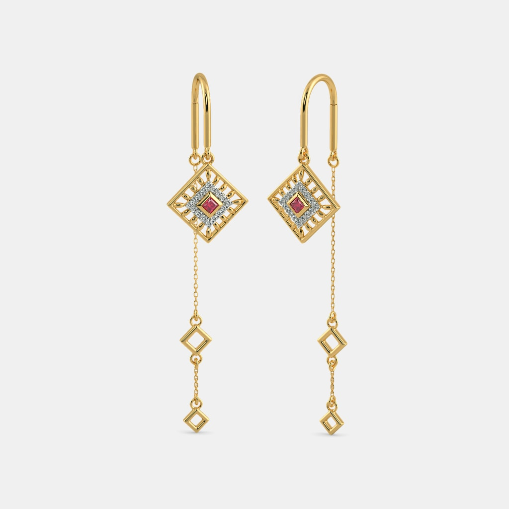 f1303398e The Navya Sui Dhaga Earrings | BlueStone.com