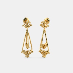 The Pansy Orbit Drop Earrings