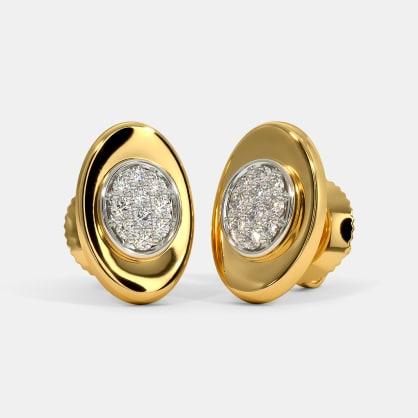 The Ilias Pave Stud Earrings
