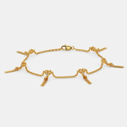 Knits of Hearts Tassel Bracelet