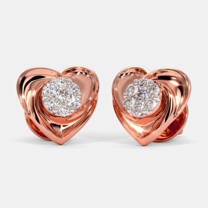 The Petite Heart Stud Earrings