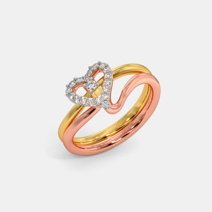 The Stylish Heart Stackable Ring