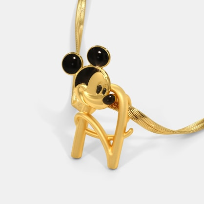 The A For Adorable Mickey Pendant For Kids
