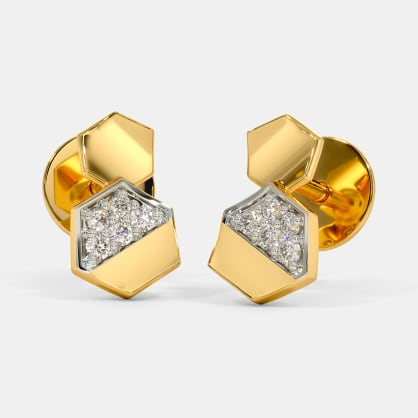 The Solid Hex Stud Earrings