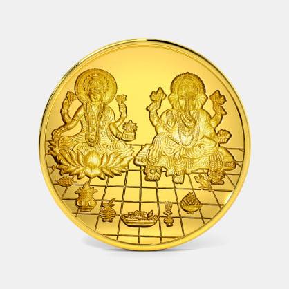 10 gram 24 KT Lakshmi Ganesh Gold Coin