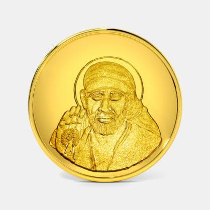 10 gram 24 KT Saibaba Gold Coin