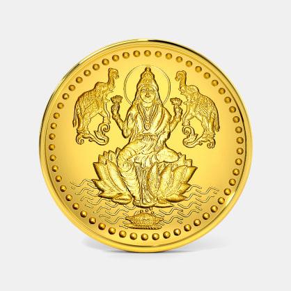 1 gram 24 KT Lakshmi Ji Gold Coin
