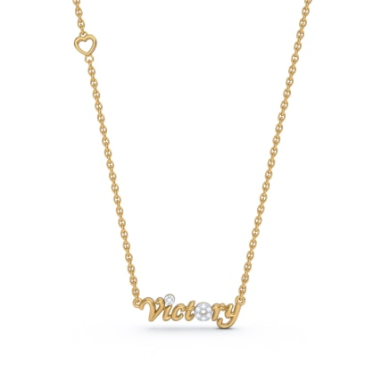The Victory Script Necklace