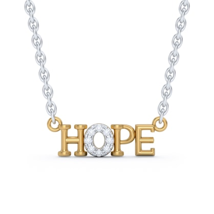 The Hope Script Necklace