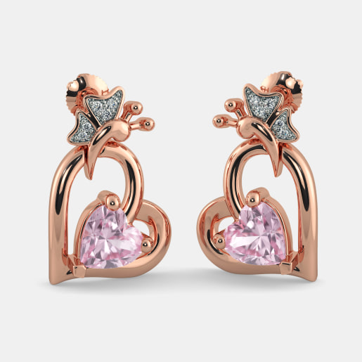 The Rosalie Heart Earrings