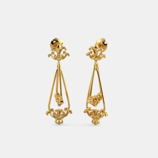 The Pansy Orbit Drop Earrings