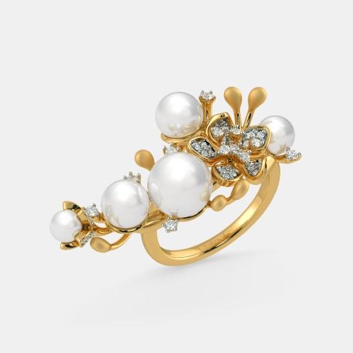 Pearl Rings Buy Pearl Ring Designs Online In India 2019