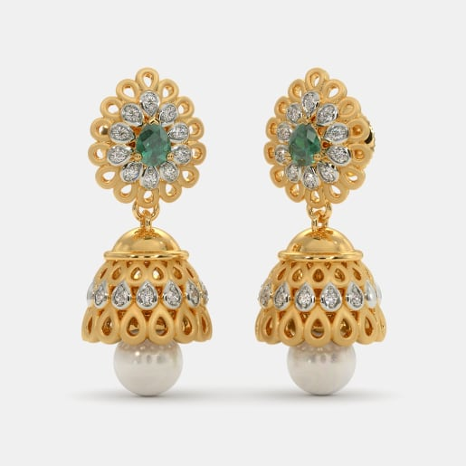Buy Gold Jhumka Earring Designs Online In India 2019 Bluestone Com