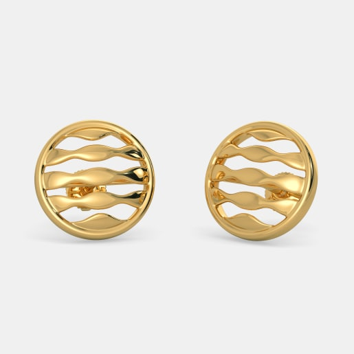 The Waves in Circle Earrings