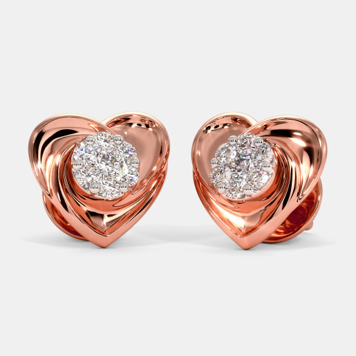The Petite Heart Stud Earrings