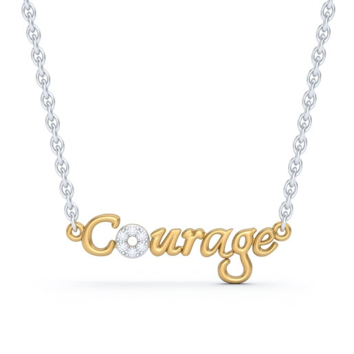 The Courage Script Necklace