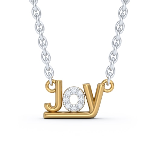 The Joy Script Necklace